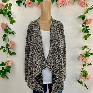 Forever 21 Knitted Drape Front Cardigan xs